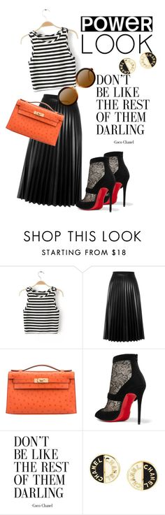 """""""thanks44k"""" by omahtawon ❤ liked on Polyvore featuring Aviù, Hermès, Christian Louboutin, Chanel and powerlook"""