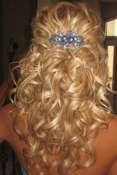 Half-Up Curly Wedding Hair | share