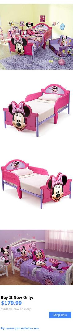 Kids at Home: Girls Disney Minnie Mouse 3D Toddler Bed And 4 Piece Bedding Set BUY IT NOW ONLY: $179.99 #priceabateKidsatHome OR #priceabate