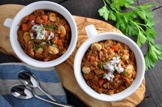 Mmmmm, ready to get really cozy? Pull on your favorite sweater and wrap your hands around a mug of this hearty, flavorful chili. It's comforting dishes like this that bring warmth and love to a chilly day. There are many ways that you could play around with the ingredients and flavors in this recipe. Use...