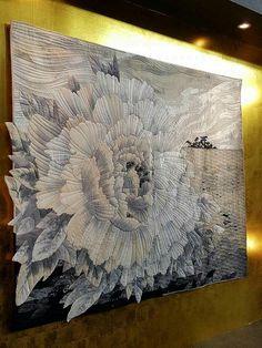 The Peony / Grand Prix First Prize Winner at 2017 Tokyo International Great Quilt Festival / Tokiko Yanazawa