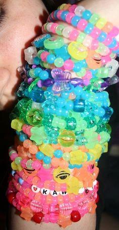 ☆cuteness will save the world☆ Aesthetic Indie, Rainbow Aesthetic, Scene Kids, Emo Scene, Kandi Bracelets, Beaded Bracelets, Estilo Harajuku, Tumbrl Girls, Estilo Indie