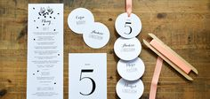 Wedding stationary by Pretty Paper, Sweden.