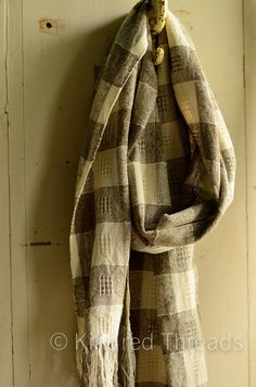 Swedish Lace handwoven organic cotton bamboo by kindredthreads, $130.00