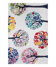 Look at this Peace Trees Rug on #zulily today!