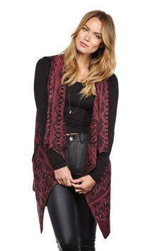 knitted rectangular vest - Google Search