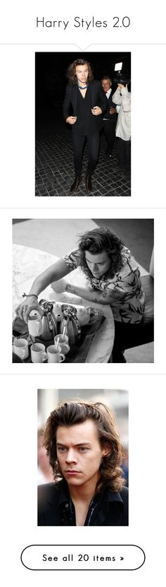 """Harry Styles 2.0"" by orianna-besideyou ❤ liked on Polyvore featuring harry styles, harry, one direction, 1d, people, backgrounds, pictures, blah blah blah, images and famous people"