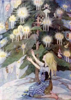 "Hans Christian Andersen Fairy Tales.  ""The Little Match Girl"" . Fairy Tales  weren't always happy endings...this is such a sad story."