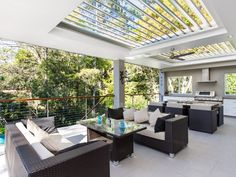 What's the secret to a good-looking and functional outdoor area design? Read our tips and outdoor living ideas to help create your dream outdoor area. Outdoor Pergola, Outdoor Landscaping, Outdoor Areas, Outdoor Decor, Outdoor Bbq Kitchen, Outdoor Kitchen Design, Outdoor Living Rooms, Outside Living, Terrace Design
