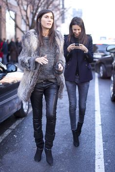 team #VogueParis strikes again. the ever chic #EmmanuelleAlt & #GeraldineSaglio in action.