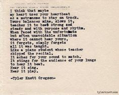 Typewriter Series #429by Tyler Knott Gregson
