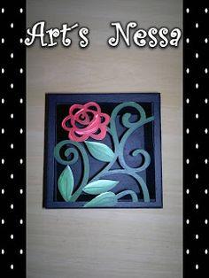 Art's Nêssa - Artesanato: Caixa flor vazada