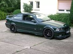 old school bmw in british racing green E36 Coupe, Bmw 318, Bmw M Series, Slammed Cars, Bmw E30 M3, Bmw Classic Cars, Bmw Love, Bmw Cars, Sport Cars