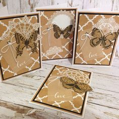 Butterfly Cards by Greeting Grub Cards, made using Kaisercraft Mix & Match collection