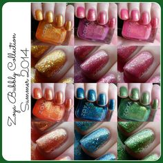 Zoya Bubbly Collection Summer 2014: Swatches and Review - http://www.zoya.com/content/category/Zoya_Tickled_Bubbly_Summer_2014_Nail_Polish_Collection.html  #nailpolish