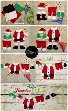 Christmas decorations and dolls Do it yourself: 80 ideas to sell or decorate. With molds and step by step Christmas Makes, Noel Christmas, Christmas Items, Christmas Projects, Felt Christmas Decorations, Felt Christmas Ornaments, Christmas Stockings, Christmas Wreaths, Navidad Diy