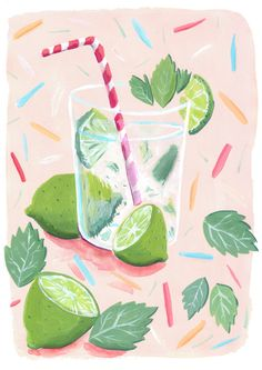 Mojito Illustration by Mia Dunton miaduntonillustration.co.uk