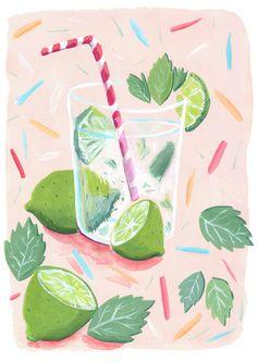 Mojito Illustration by Mia Dunton miaduntonillustration.co.uk