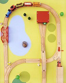 train play table - ours needs repainting. something simple like this looks fab.