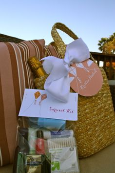 Love is in the Air bachelorette - survival kits!