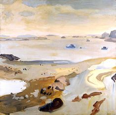 That Kind Of Woman · bofransson: Fairfield Porter - Low Tide, 1962 Fairfield Porter, Abstract Landscape, Landscape Paintings, Abstract Art, Abstract Expressionism, Mountain Sketch, Art Textile, Paintings I Love, Painting Inspiration