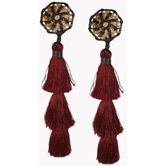 Dsquared2 Earrings ($245) ❤ liked on Polyvore featuring jewelry, earrings, maroon, clip back earrings, clip-on earrings, earring jewelry, dsquared2 and clip earrings