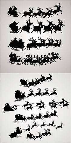 Santa Claus on a sleigh vector. Free download!!