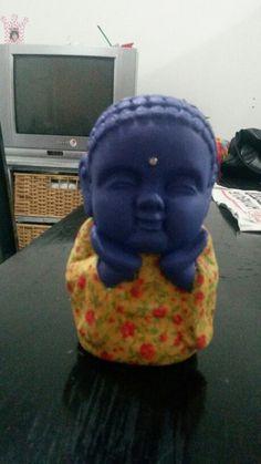 Buda azul cn flores