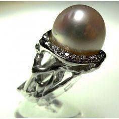 Anello perla barocca in oro