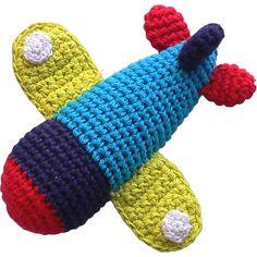 Limobebe - for modern babies :: juguetes y peluches :: musicales y sonajeros :: sonajero ganchillo avión
