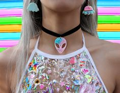 Kawaii alien resin choker ~ kawaii choker ~ handmade chokers ~ harajuku style ~ Kawaii fashion ~ j fashion ~ pastel fashion ~ pastel goth jewelry ~ pop kei ~ harajuku ~ gyaru ~ fairy kei ~ lolita fashion ~ gothic lolita ~ pastel goth ~ sweet lolita ~ decora ~ grunge choker ~ handmade choker ~ cute choker ~ fairy kei choker ~ fairy kei jewelry ~ pink choker  psychobabyshop~ alien choker ~ ddlg choker ~ resin jewlery ~ black choker ~ cute choker ~ resin necklace ~ kawaii jewlery ~ alien…