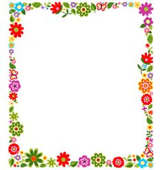 frame colorful flower