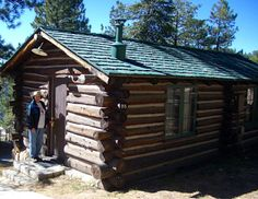Frontier Cabin at the Grand Canyons North Rim. The lodging is basic but the view is first class. It's worth the effort to reach the more isolated side of the Grand Canyon when you travel to Arizona.