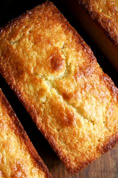 MADE THESE:  Orange-and-Ricotta Pound Cakes    Fantastic but note: use multiple mini-loaf pans and fill to just over halfway or a combination of one large and one mini-loaf pan (makes more batter than one large pan can hold).