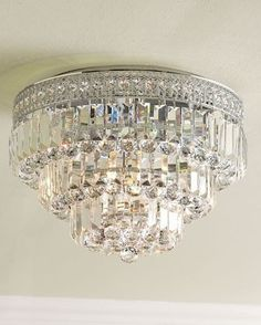 Crystal Ceiling Mount Light Fixture--master bedroom closet so Husband won't hit his head on a chandy