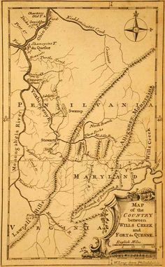 Map of the Country between Wills Creek and Fort du Quesne 1758