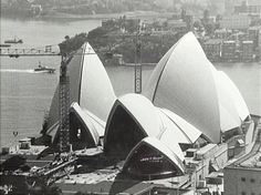 Sydney Opera House under construction mid-1960s (City of Sydney Archives).