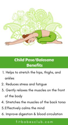 Child' Pose is a wonderfully restorative yoga posture that should be practiced by all skill levels. It is a common beginner's yoga pose. If you are a beginner at yoga, Click the link to see some beginner's yoga poses. Kids Yoga Poses, Kid Poses, Yoga Poses For Beginners, Yoga For Kids, Workout For Beginners, Kid Yoga, Fitness Workout For Women, Yoga Fitness, Fitness Watch