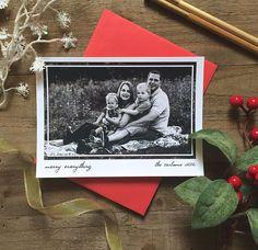 5 x 7 Custom Digital or Print Merry Everything Greeting/ Photo Christmas Greeting Card/ FREE SHIPPING by ArtPaperScissorsGlue on Etsy