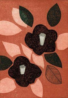 by Tamae Mizukami Motifs Textiles, Textile Prints, Art Prints, Plant Illustration, Botanical Illustration, Japanese Patterns, Japanese Art, Textures Patterns, Print Patterns