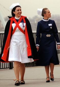 Proper nursing uniform! I loved my woollen cape, particularly when on night duty as it made a great blanket to keep you warm.