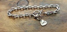 I Love You Bracelet Heart Bracelet Gift for Her by JazzieJsJewelry