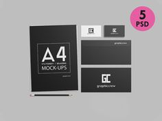 Stationery / Branding Mockups by graphiccrew on @creativemarket