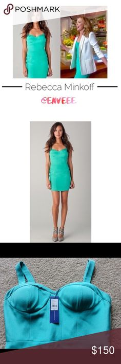 Rebecca Minkoff bodycon dress * New with tags * Rebecca Minkoff Dress  * ❗️SOLD OUT in stores ❗️seen on Paris Hilton and Lauren Conrad * Bustier Dress in Bodycon design - absolutely gorgeous! Perfect for weddings/dates or any special occasion. Definitely a stunner!  * Sweetheart neckline.                         * Colour: Teal  * Size: 6 (Fits more like S/XS)  * Retails for $328, so grab yourself an amazing bargain * From smoke/pet-free home * Originally listed for $150 Rebecca Minkoff…