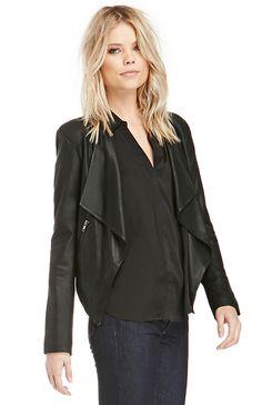BB Dakota Tyne Leather Jacket in Black M - L | DAILYLOOK