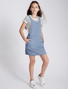 Pure Cotton Denim Dress Outfit with StayNEW™ (3-14 Years)