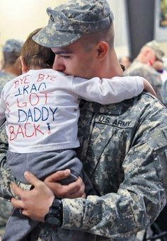 Bye bye Iraq, I got my Daddy back! Aw !!