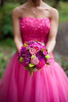 bruidsboeket van vilt