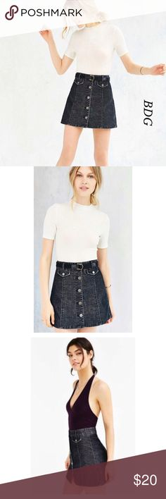 🎀BGD UO BLACK CORDUROY BUTTON FRONT MINI🎀 NOWT, beautiful BDG Women Black Corduroy Front Button mini skirt. Pretty, sexy and comfortable. Perfect for any season. Wear it with tights and boots in the cold weather and sandals or sneakers on spring and summer. Featuring five front buttons for closure. Two mini front pockets with snaps button to closure. Line tag to prevent store returns. Urban Outfitters Skirts Mini