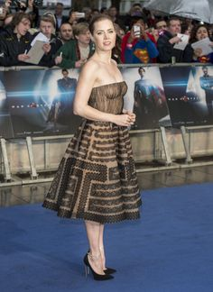 Amy Adams in a Valentino Haute Couture Spring 2013 dress at the première of 'Man of Steel' in London, June 12th 2013